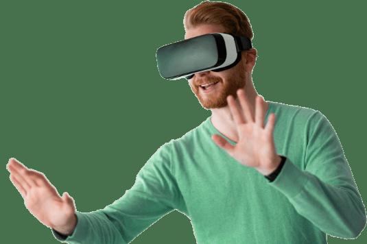 man-wearing-virtual-reality-headset-at-home-D7AYCTV-2